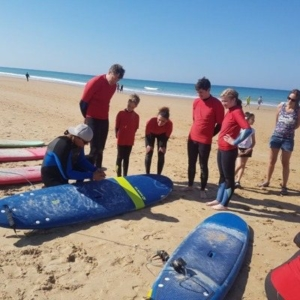 Family Surfcourse in Conil El Palmar Andalusien